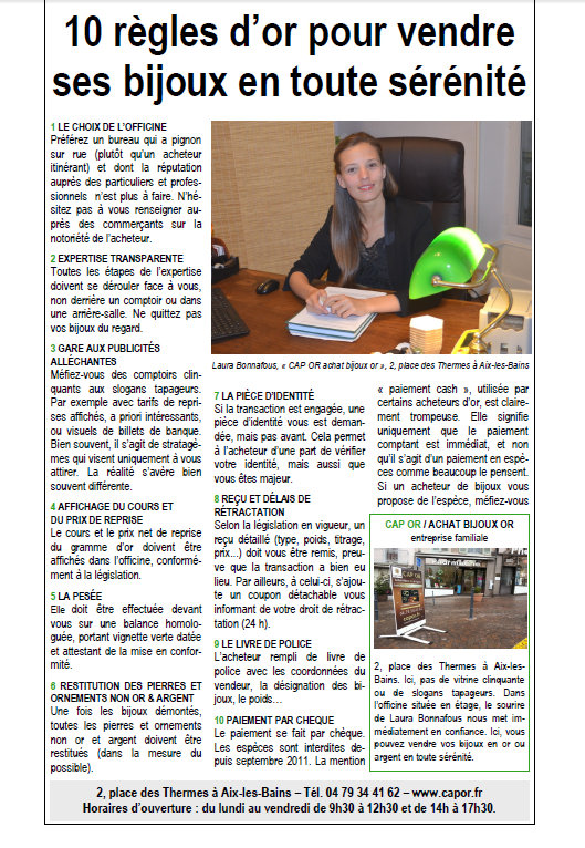 Article du Dauphiné Libéré 26 Octobre 2014