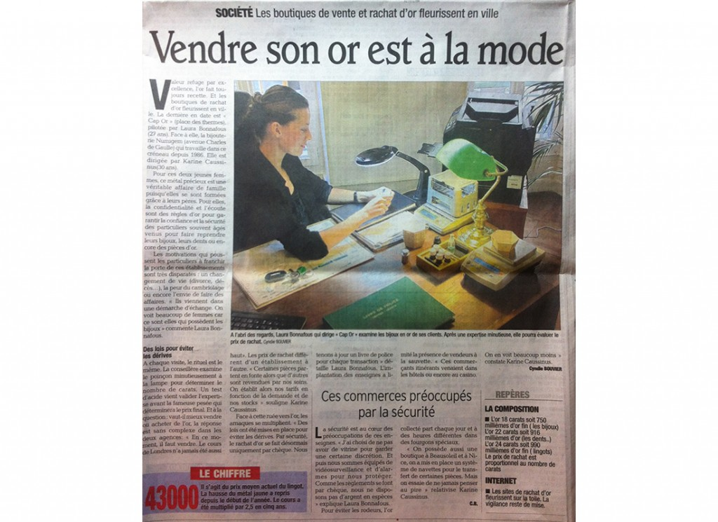 Article du Dauphiné libéré Septembre 2012